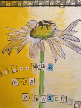 bee sketchbook flower